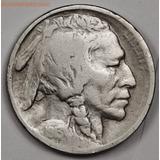 Moneda 5 Centavos Nickel Indio Bufalo 1913 S Tipo I Dificil