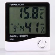 Termohigrômetro Digital Com Relógio Despertador Display Ldc