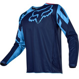 Camisa Fox 180 Race 2017 Azul - Motocross Mx / Trilha Enduro