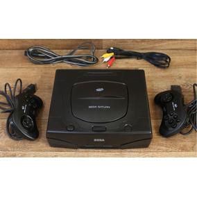 Sega Saturn Destravado + 02 Controles + 10 Jogos + Cabo Av