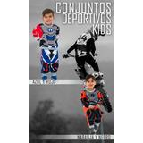 Conjunto Deportivo De Moto Cross Enduro Niño Talle 2 Al 8