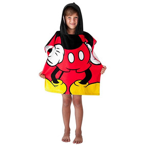 Toalla De Disney Mickey Mouse Con Capucha Del Poncho De Play
