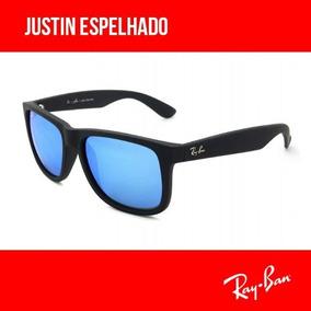 Rayban Justin 4165 100 Polarizado Espelhado Origem Eua Ray Ban Sao ... a565cedf4e