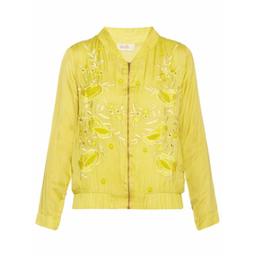 Bomber Mujer Vero Alfie Amarilla Litchi The Net Boutique