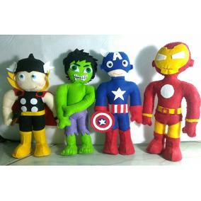 Bonecos Vingadores - The Avengers Em Feltro Feitos A Mão