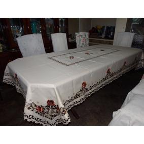 Mantel Bordado Fino, Alta Calidad 2.5m