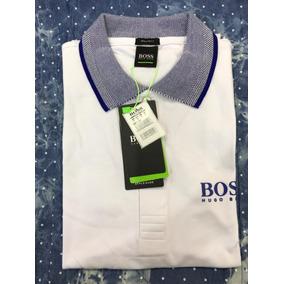 Camisa Hugo Boss Importada - Camisa Manga Curta Masculinas Branco no ... bafe2805484