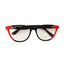 5f6c608718ccc Oculos Redondo Grau Prada - Óculos Preto no Mercado Livre Brasil