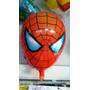 10 Globos Forma Cabeza Spiderman+10mascaras Marvel De Regalo