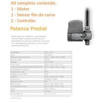 Kit Motor Para Portão Automático Basculante Ppa Potenza 1/3