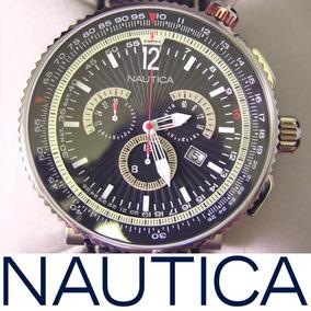 Relógio Nautica N29512g Ocean 50 Titanium 50mm Masculino Men