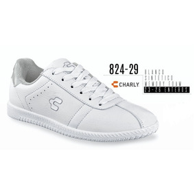 Tenis Marca Charly 824-29 Color Blanco