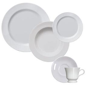 Jogo De Jantar E Chá 20 Peças Liso Capri Porcelana Germer