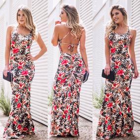 Vestido Largo Sirena Estampados Importados