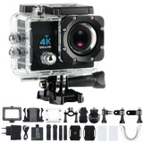 Video Camara Deportiva Go Pro 4k 16mp Sumergible Wifi 30 Mts