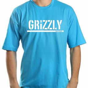 Camiseta Camisa Blusa Grizzly Logo Bear Skate