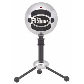 Microfone Condensador Usb Blue Snowball Prata