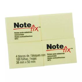 4 Pct Notas Auto-adesivas Post-it 38x50 38mmx50mm Notefix