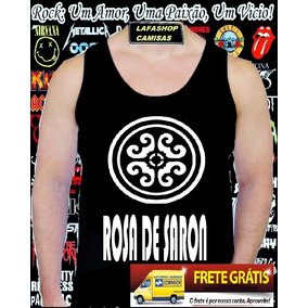Camiseta Regata Rosa De Saron Camisa Banda Rock Gospel Jesus
