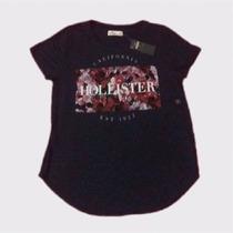 Camiseta Hollister Abercrombie Feminina Original Eua Tam P
