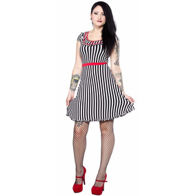 Vestido Patsy Sideshow Sourpuss Pin Up Goth Rockabilly Retro