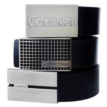Cinto Masculino Tamanho Grande Médio E Pequeno Calvin Klein