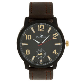 Reloj Análogo Mano Royal Polo Club Caballero Rlpc2824b Cafe