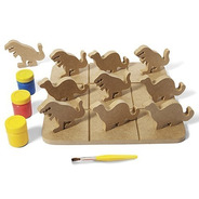 Brinquedo Jogo Da Velha Dinos - Alegria Sem Bateria