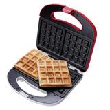 Máquina De Waffle Cadence Waf100 127v Vermelha