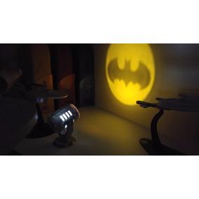Batman Bat Signal Led Mini Bat Sinal + Mini Livro Dc Comics