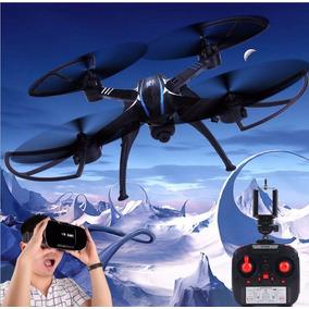 Drone Camera Wifi Ao Vivo Tempo Real Fpv + Oculos 3d Vr W6