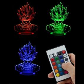 Lampara Dragon Ball Control Goku Vegeta Saiyajin Led Usb