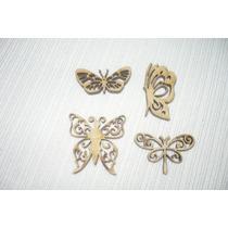 70 Mariposas Caladas En Fibrofacil En 5cm