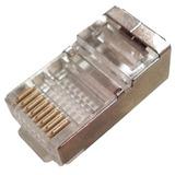 Conector Blindado Rj45 8 Vias Cat 5e Com 100 Peças Cabo Rede