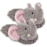 Aroma Hogar Elefante Fuzzy Amigos Zapatillas De La Mujer