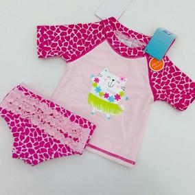 Camisa E Calcinha Com Proteção Solar Fps 50+ Para Bebê