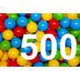 500 Pelotas De Plastico Para Piscina 70mm 7cm