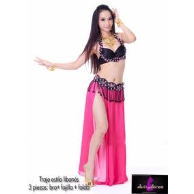 Sexy Traje Libanés De 3 Piezas Para Bellydance Danza Arabe