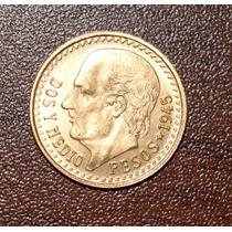 Moneda De Oro 2 1/2 Pesos 1945 Hidalgo.