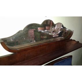 Antigua Repisa Con Espejo Biselado 170 X 42 Cm Estante 12 Cm