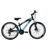 Bicicleta Vikingx Freeride Aro 26 Freio Disco Bike Preta/azu