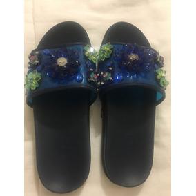 Sandalias Con Flores De Piedras