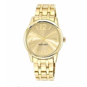 Reloj Dorado De Dama Marca Nine West