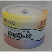 Dvd Princo 50 Unidades 8x 4,7gb De Remate!