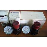 Regulador Presion De Aire + Manometro 1/4 Pulg