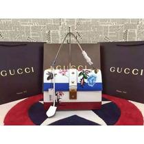 Bolsa Gucci Spring Original Azul Maravilhosa Frete Gratis