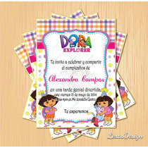 Invitacion Digital Imprimible Dora La Exploradora Cumpleaños
