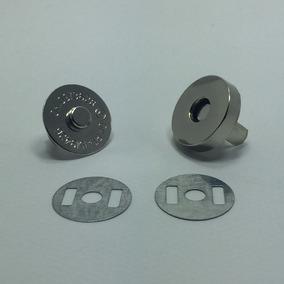 Kit 100 Unidades Botão Imantado Imã Magnético Niquelado 18mm