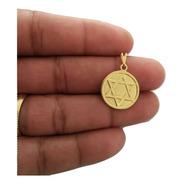 Pingente Estrela De Davi Banhado A Ouro Com Nota Fiscal R002