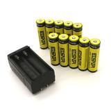 8pc 9900mah 18650 3.7v Li-ion Recargable Baterías + Cargador